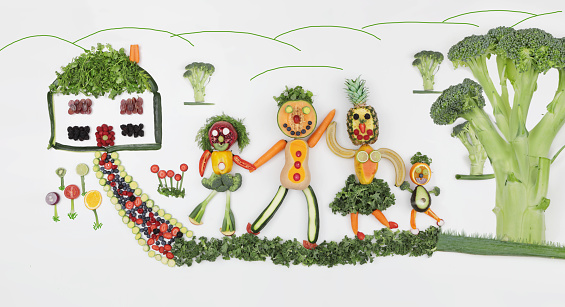 Female Likeness「domestic scene made from vegetables」:スマホ壁紙(1)