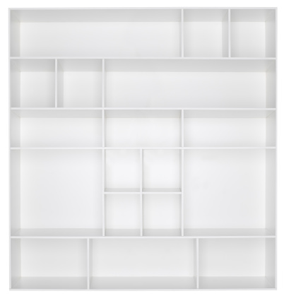 Square「Empty white wooden bookshelf」:スマホ壁紙(9)