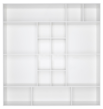 Square「Empty white wooden bookshelf」:スマホ壁紙(14)