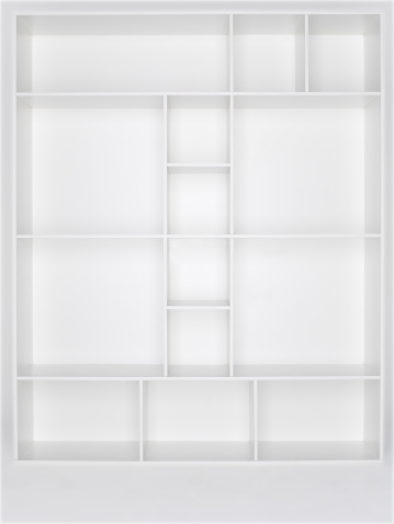 Woodland「Empty white wooden bookshelf」:スマホ壁紙(16)