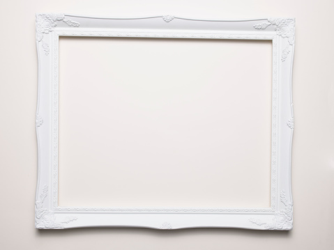 Art And Craft「Empty white frame on a white background」:スマホ壁紙(7)