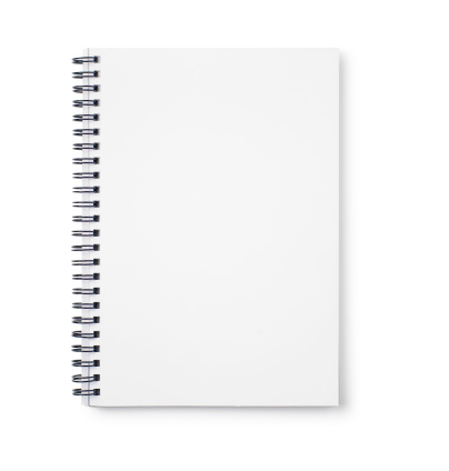 Note Pad「Empty white notebook with black wire binding」:スマホ壁紙(1)