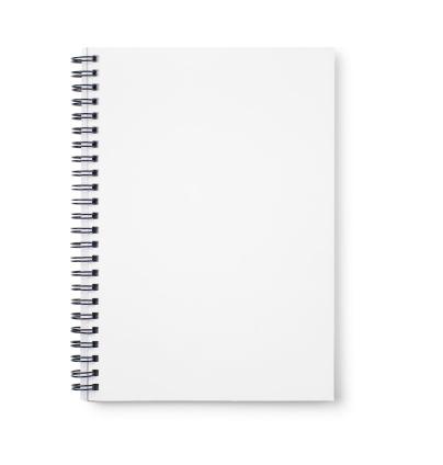 Open「Empty white notebook with black wire binding」:スマホ壁紙(8)