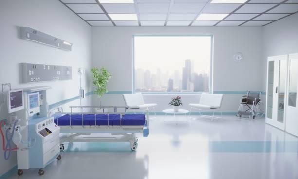 Modern Hospital Room Interior:スマホ壁紙(壁紙.com)