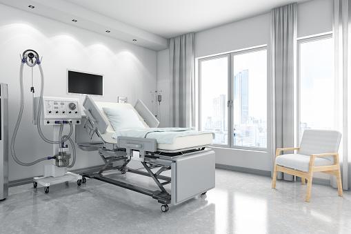 Healing「Modern Hospital Room with Ventilator System」:スマホ壁紙(19)