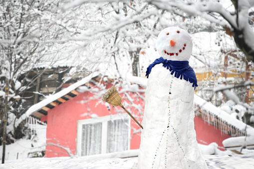 雪だるま「スノーマン」:スマホ壁紙(3)