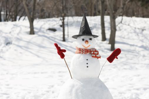 雪だるま「A snowman」:スマホ壁紙(18)