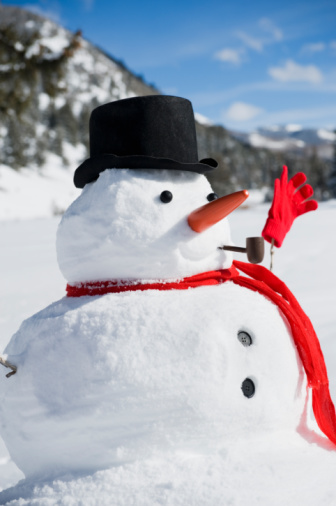 雪だるま「A snowman」:スマホ壁紙(1)