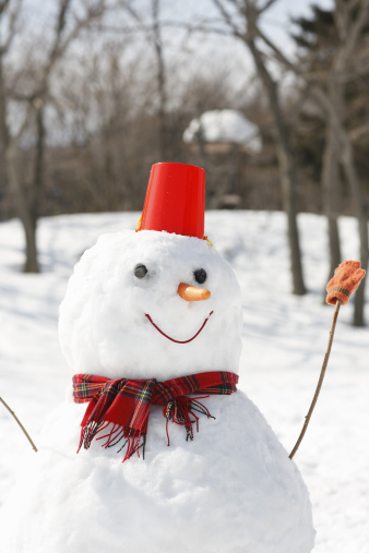 雪だるま「A snowman」:スマホ壁紙(2)