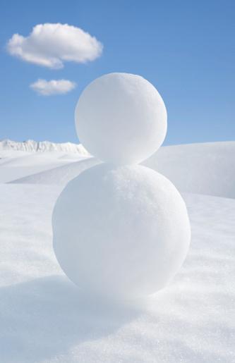 雪玉「スノーマン」:スマホ壁紙(1)