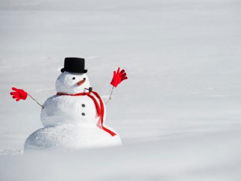雪だるま「A snowman」:スマホ壁紙(3)