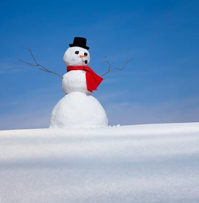 雪だるま「スノーマン」:スマホ壁紙(16)