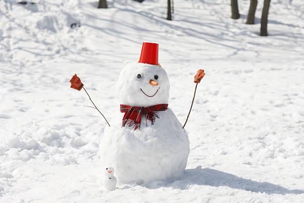 A snowman:スマホ壁紙(壁紙.com)