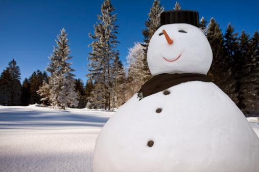 雪だるま「スノーマン」:スマホ壁紙(2)