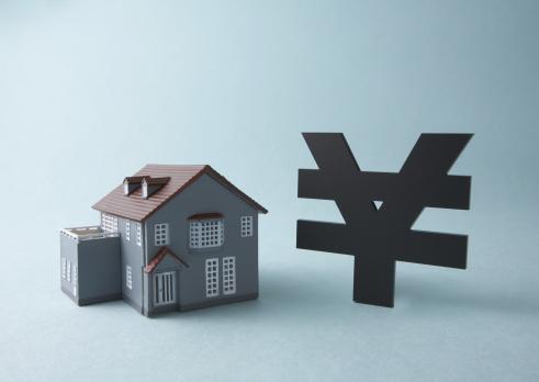 Economic fortune「Yen sign and miniature house」:スマホ壁紙(11)