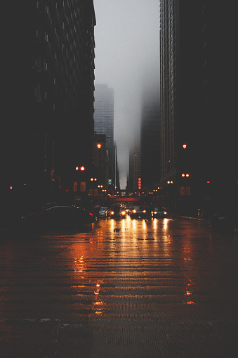 City Life「Cityscape at night, Chicago, America, USA」:スマホ壁紙(2)