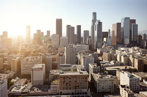 City Of Los Angeles「Cityscape at sunset, Los Angeles, Los Angeles County, California, USA」:スマホ壁紙(9)