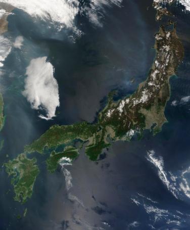 """Satellite View「""""Japan, satellite image""""」:スマホ壁紙(14)"""