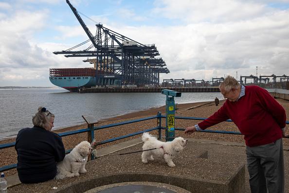 座る「General Views Of The Container Terminal At Felixtowe Port」:写真・画像(3)[壁紙.com]
