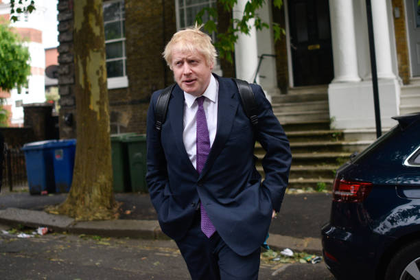 Candidate For The Conservative Party Leadership Boris Johnson Arrives At His Girlfriend's Home:ニュース(壁紙.com)