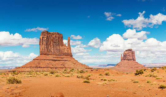 National Park「West Mitten and Merrick Butte Monument Valley Arizona」:スマホ壁紙(14)