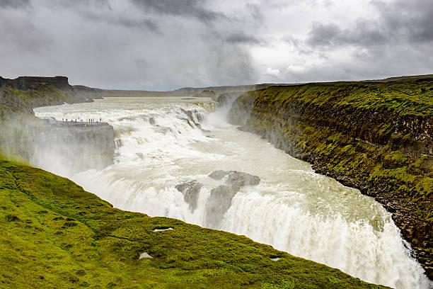 Gulfoss waterfall in Iceland:スマホ壁紙(壁紙.com)