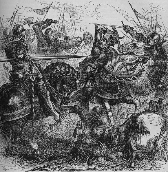 Battle「'Richard III at Bosworth', 22 August 1485, (c1880)」:写真・画像(2)[壁紙.com]