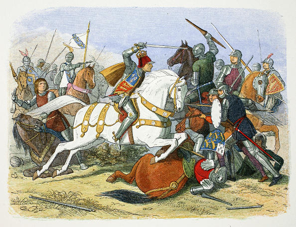 Battle「Richard III Of England At The Battle Of Bosworth Field Leicestershire 1485 (1864)」:写真・画像(4)[壁紙.com]