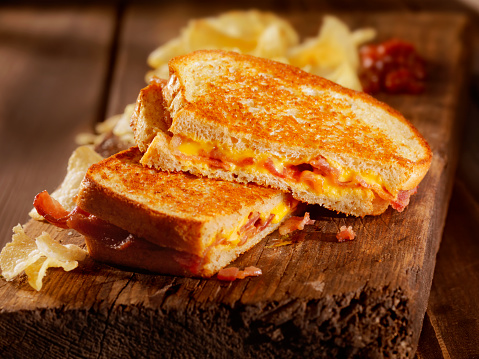 Cheese Sandwich「Grilled Cheese and Bacon Sandwich」:スマホ壁紙(7)