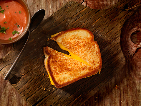 Toasted Food「Grilled Cheese Sandwich With Tomato Soup」:スマホ壁紙(18)