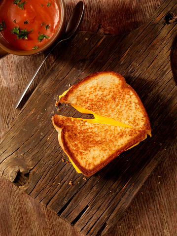 Cheese Sandwich「Grilled Cheese Sandwich with Tomato Soup」:スマホ壁紙(3)