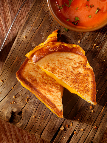 Cheese Sandwich「Grilled Cheddar Cheese Sandwich with Tomato Soup」:スマホ壁紙(8)