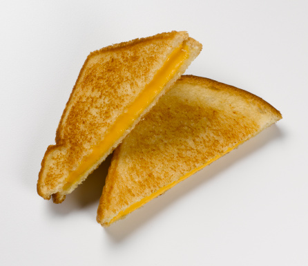 Toasted Food「Grilled cheese sandwich, overhead view」:スマホ壁紙(4)