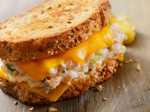 Toasted Food「Grilled Cheese Seafood Salad Sandwich」:スマホ壁紙(8)