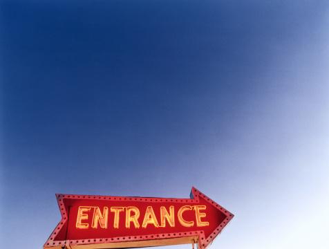 ネオン「Neon 'Entrance' sign」:スマホ壁紙(4)