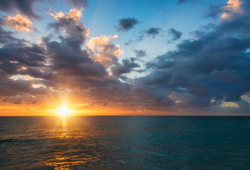 夕焼け 海「Jamaica, Sun setting over sea」:スマホ壁紙(6)