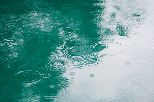雨「Raindrops On Puddle」:スマホ壁紙(13)
