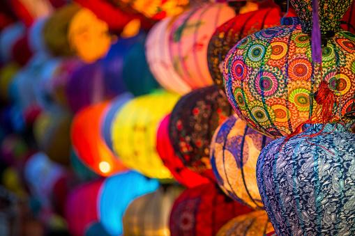 Chinese Lantern「June 2017 Hoi An, Vietnam - Chinese lanterns illuminate the walkways throughout old town Hoi An.」:スマホ壁紙(15)
