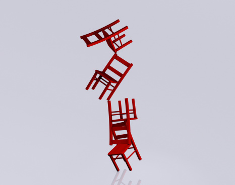 Balance「Stack of chairs falling over」:スマホ壁紙(14)