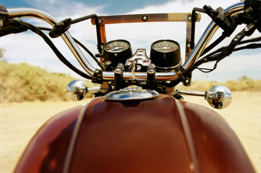 Motorcycle「Motorcycle, view from gas tank」:スマホ壁紙(0)