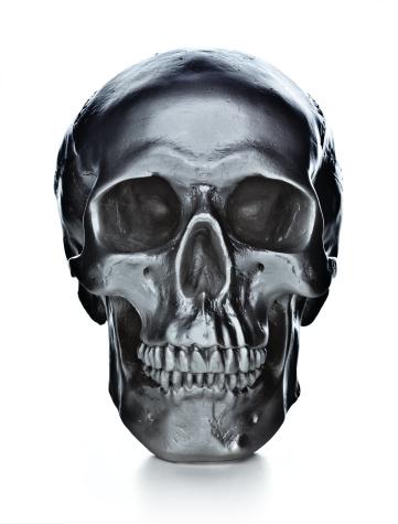 女「skull on white background」:スマホ壁紙(16)