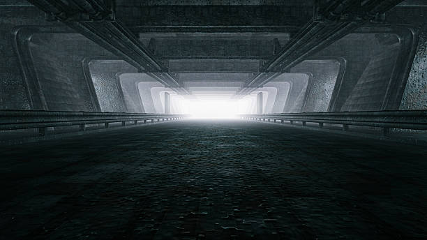 Dark empty tunnel, hangar:スマホ壁紙(壁紙.com)