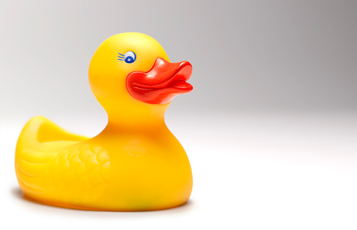Beak「large yellow rubber duck with copy space」:スマホ壁紙(14)