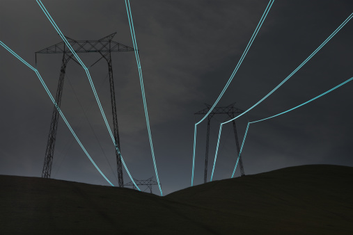 Cable「Light Trails Along Powerlines」:スマホ壁紙(6)