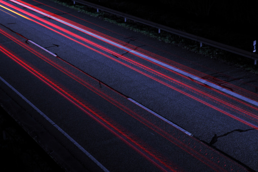 Dividing Line - Road Marking「Light Trails of Cars」:スマホ壁紙(0)