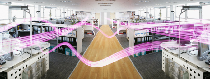 Light Trail「light trails wizzing around an office interior」:スマホ壁紙(2)