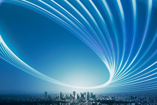 Global Communications「Light trail over the city」:スマホ壁紙(18)