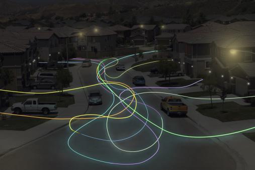 Light Painting「Light Trails in Suburbs」:スマホ壁紙(8)