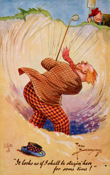 Sand Trap「Golfing cartoon, c1920s.」:写真・画像(8)[壁紙.com]