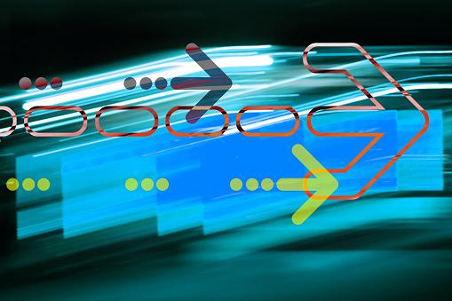 Quantum Computing「Graphic arrow on abstract background」:スマホ壁紙(6)
